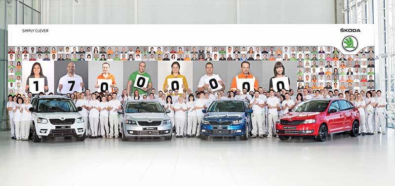 A Škoda legyártotta a 17 milliomodik járművét