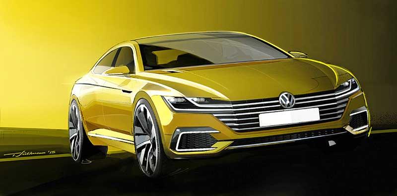 Genfben tartja világpremierjét a Sport Coupé Concept GTE: a négyajtós kupé új korszak nyitánya a Volkswagen formatervezésében