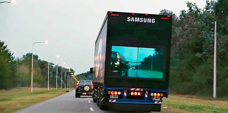 Biztonságos előzést segít a Samsung kamionokkal