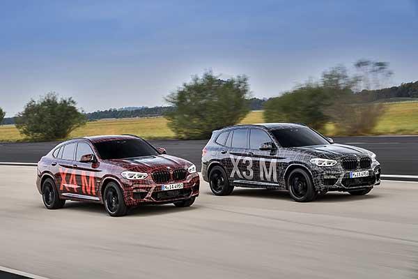 A BMW X3 M és a BMW X4 M a Nürburgringen melegít