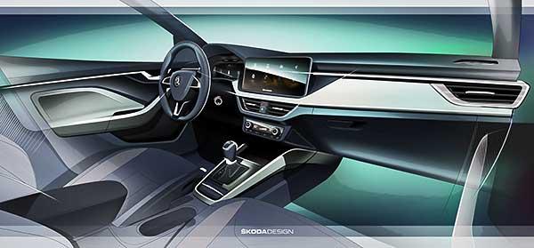 Škoda SCALA új beltéri koncepcióval
