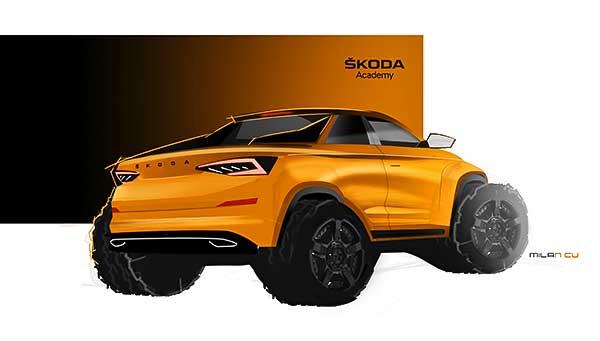 Pickupváltozatot építenek egy KODIAQ modellből a Škoda szakmunkástanulói a 2019-es tanulmányjárműként