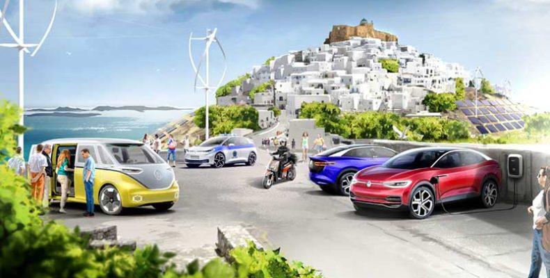 A Volkswagen-csoport és Görögország minta szigetet produkál a klíma-semleges mobilitás megteremtésére